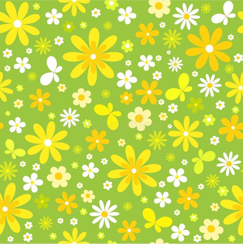 Nahtloser Blumenhintergrund mit Basisrecheneinheit vektor abbildung