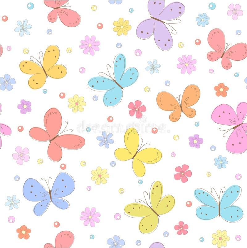 Hintergrund mit Schmetterling stock abbildung