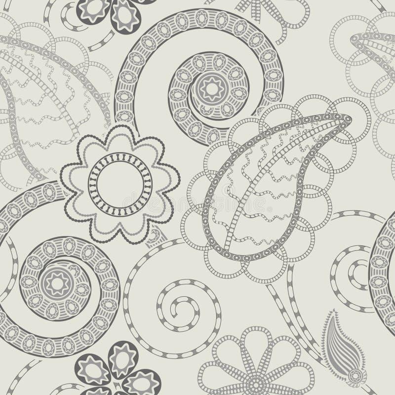 Nahtloser Blumenmusterhintergrund vektor abbildung
