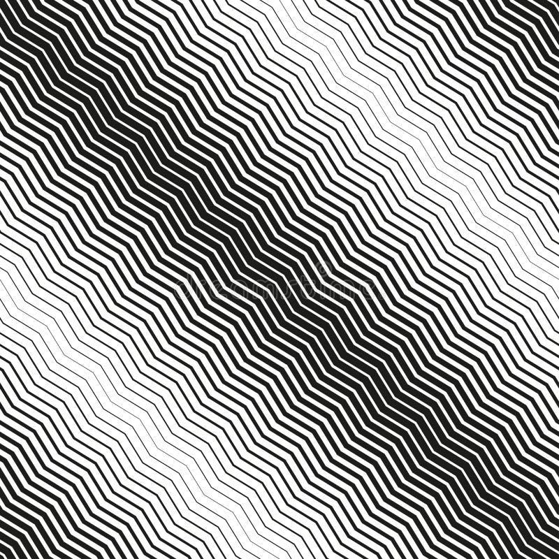 Nahtloser diagonaler Halbtonhintergrund stock abbildung