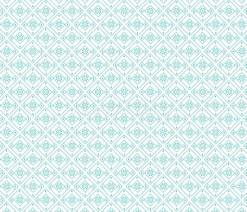 Nahtloser Diamant formt Blumenmuster stockfoto