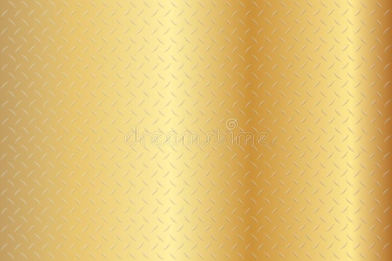 Nahtloser Diamond Gold Texture Background lizenzfreie abbildung
