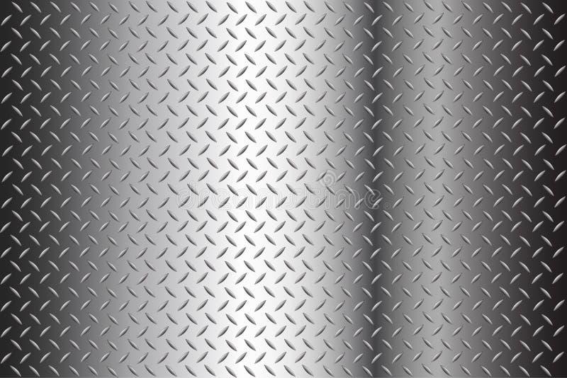 Nahtloser Diamond Plate Texture Vector stock abbildung