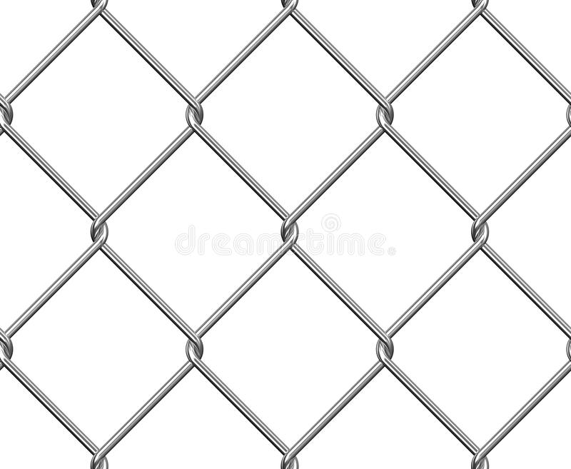 Nahtloser Draht-Zaun lizenzfreie abbildung
