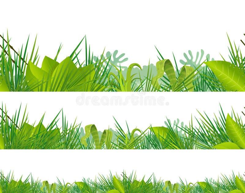 Nahtloser Dschungel und tropische Vegetation vektor abbildung