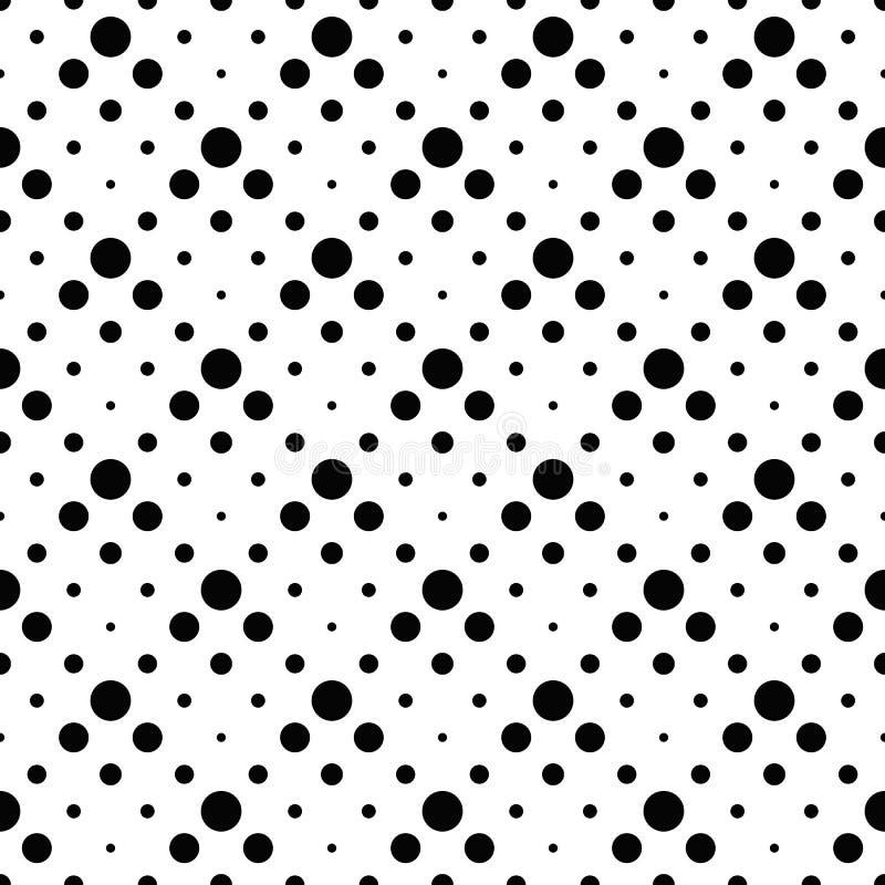 Nahtloser einfarbiger abstrakter Kreismuster-Hintergrundentwurf vektor abbildung