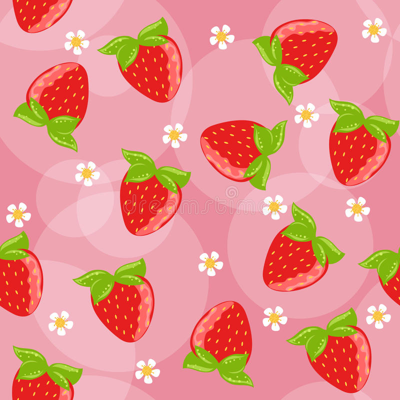 Nahtloser Erdbeerehintergrund vektor abbildung