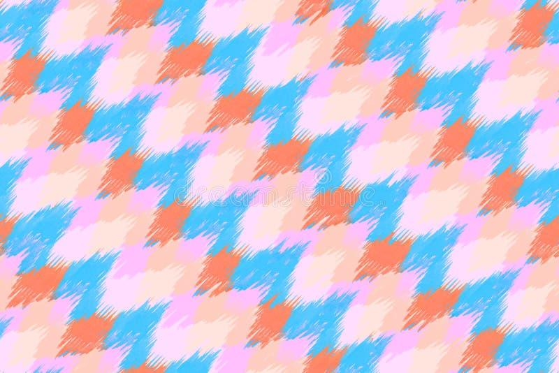 Nahtloser ethnischer modischer Hintergrund des Zickzackrosamusters Farb lizenzfreie abbildung