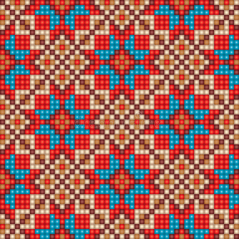 Nahtloser ethnischer Musterhintergrund des Mosaiks stock abbildung