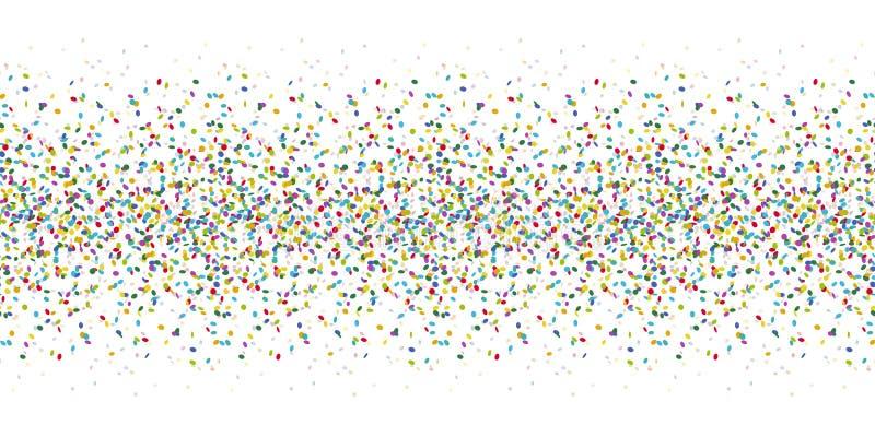 nahtloser farbiger Konfettihintergrund vektor abbildung