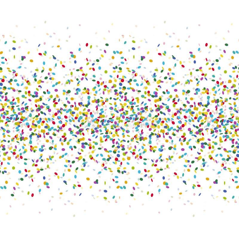 nahtloser farbiger Konfettihintergrund lizenzfreie abbildung