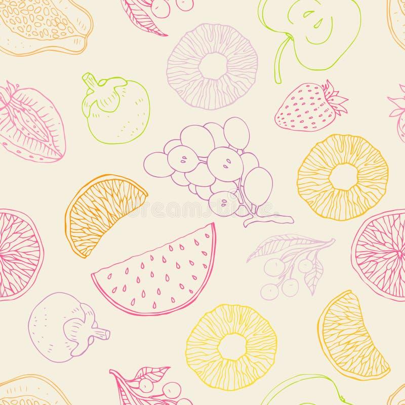 Nahtloser Fruchthintergrund lizenzfreie abbildung