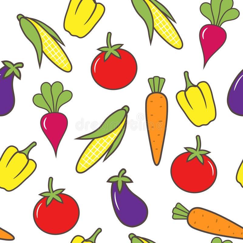 Nahtloser Gemüsehintergrund. stock abbildung