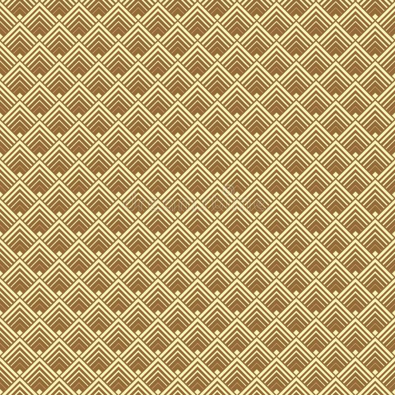 Nahtloser geometrischer Gold-Art Deco-Musterhintergrund lizenzfreie abbildung