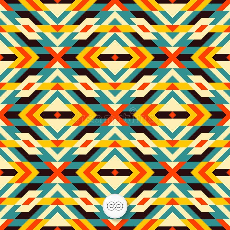 Nahtloser geometrischer Hintergrund mosaik stock abbildung