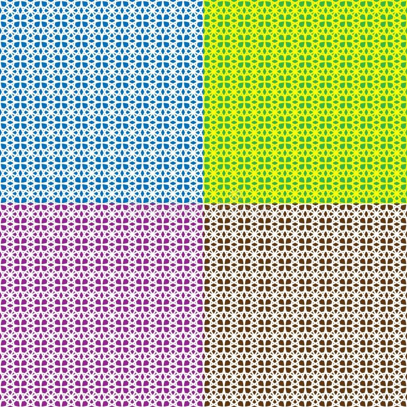 Nahtloser geometrischer Hintergrund von schneidenen Kreisen, Satz von vier Farben lizenzfreie abbildung