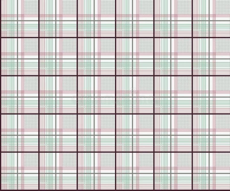 Nahtloser geometrischer Kontrollhemd-Entwurfshintergrund vektor abbildung
