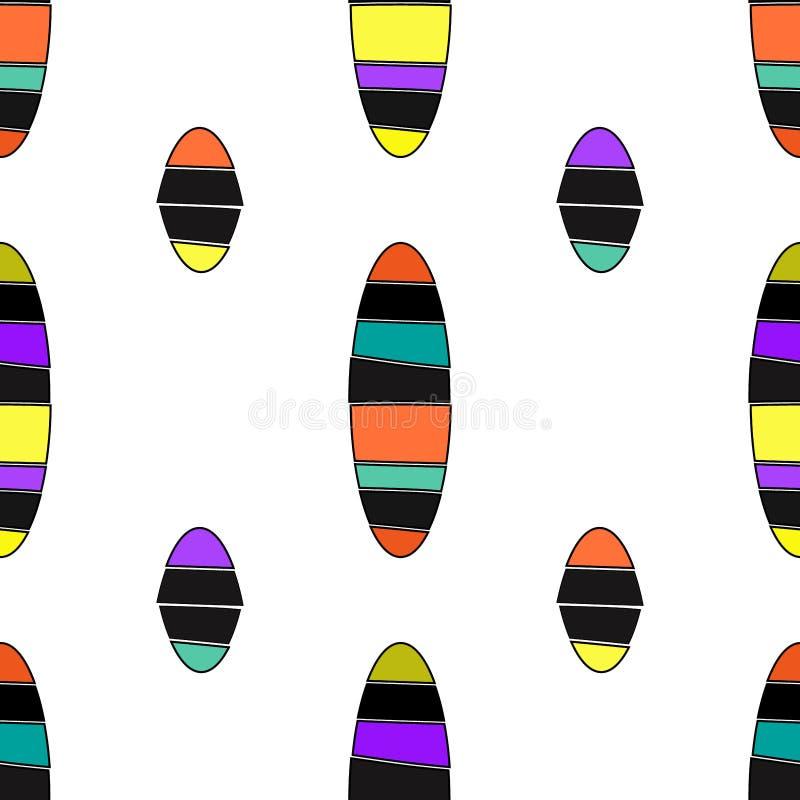 Nahtloser geometrischer Mustervektorhintergrund mit geschnittenem der Entwurfszusammenfassungsweinlese der Ellipsen weißem blauem lizenzfreie abbildung