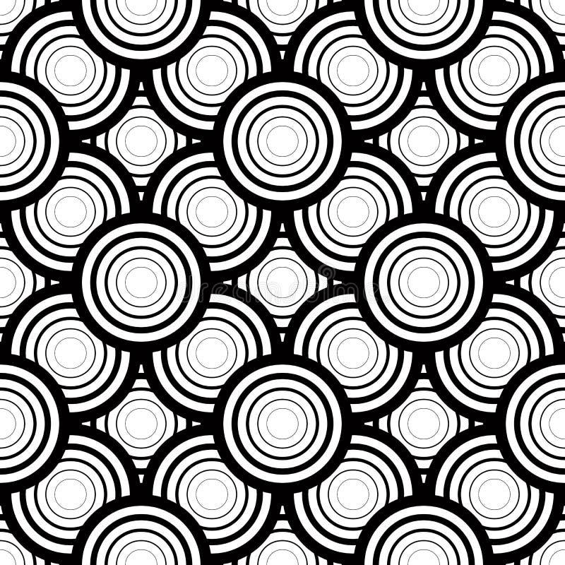 Nahtloser geometrischer Vektorschwarzweiss-hintergrund, einfaches str vektor abbildung