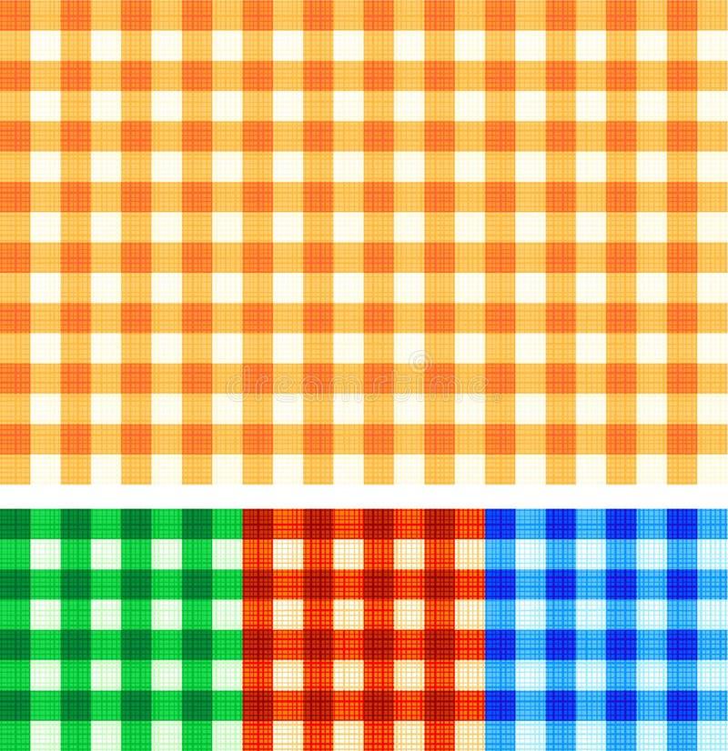 Nahtloser Gingham überprüfte Muster der Herbstfarben stock abbildung