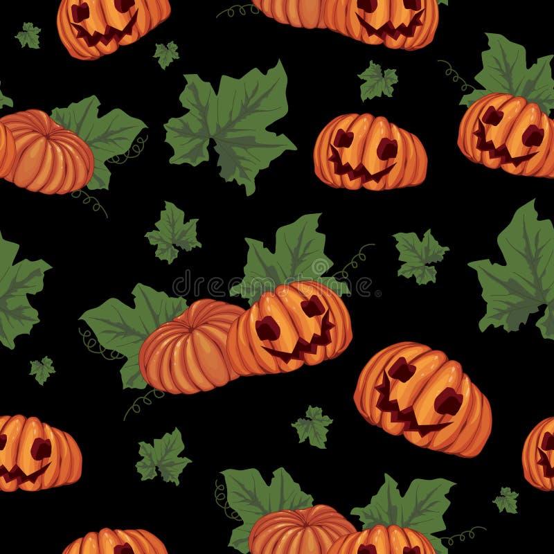 Nahtloser Halloween-Hintergrund lizenzfreie abbildung