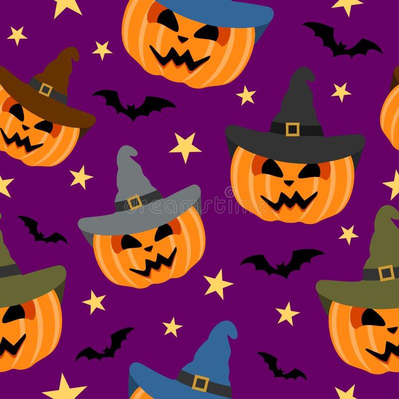 Nahtloser Halloween-Hintergrund vektor abbildung