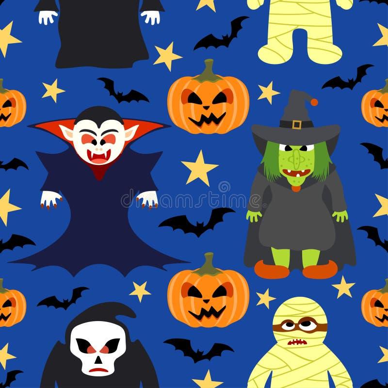 Nahtloser Halloween-Vektorhintergrund vektor abbildung