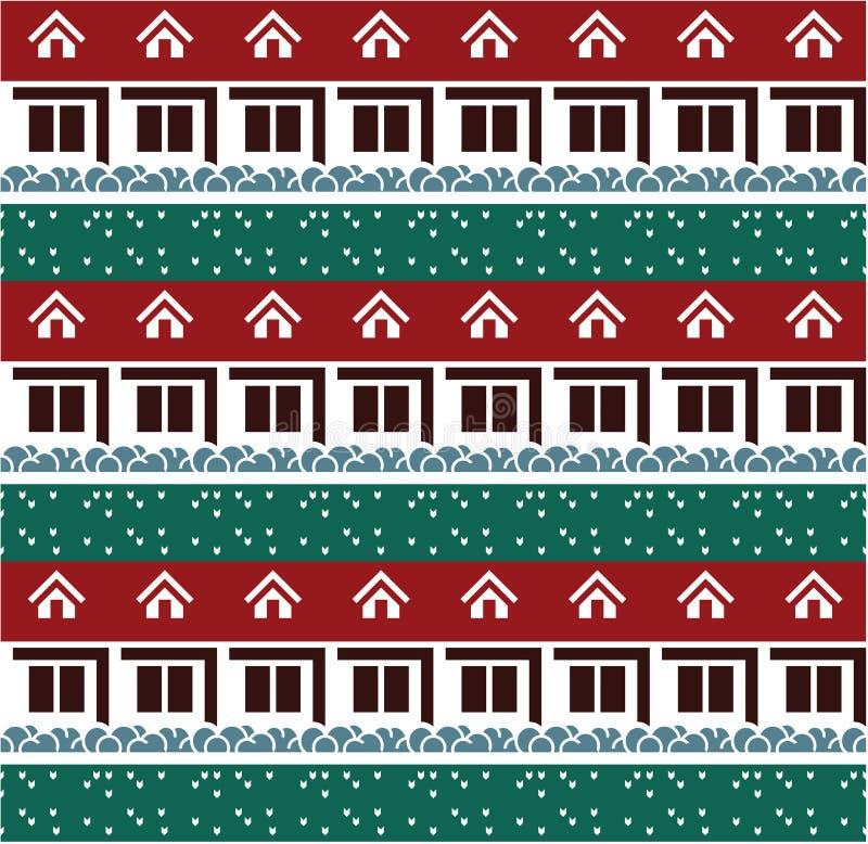 Nahtloser Haushintergrund vektor abbildung