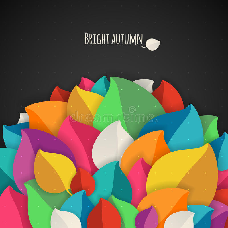 Nahtloser Herbstblathintergrund Einfache Formen vektor abbildung
