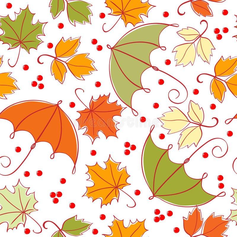 Nahtloser Herbsthintergrund vektor abbildung