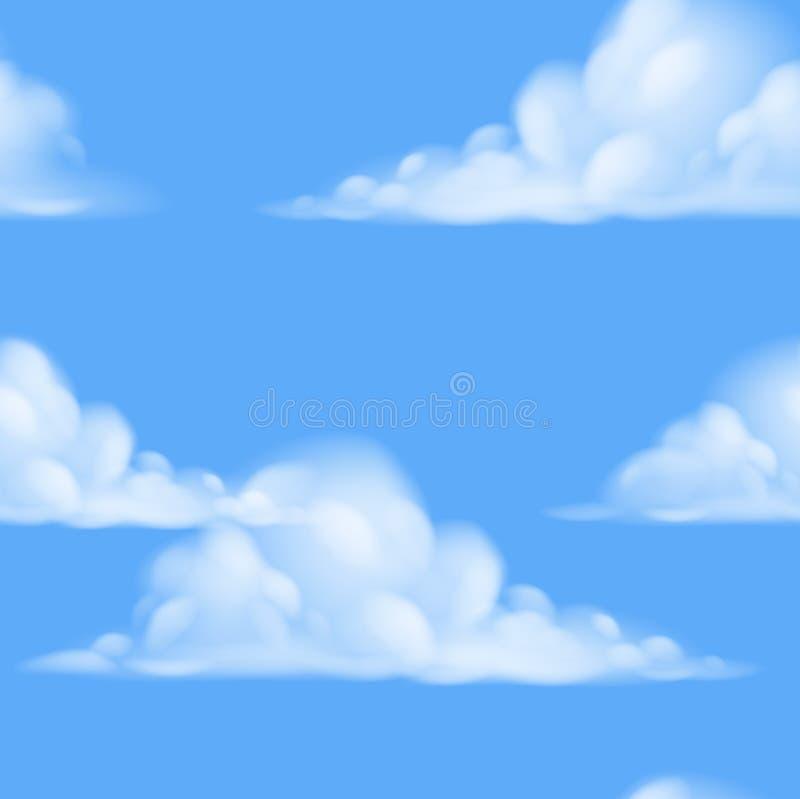 Nahtloser Himmelhintergrund stock abbildung