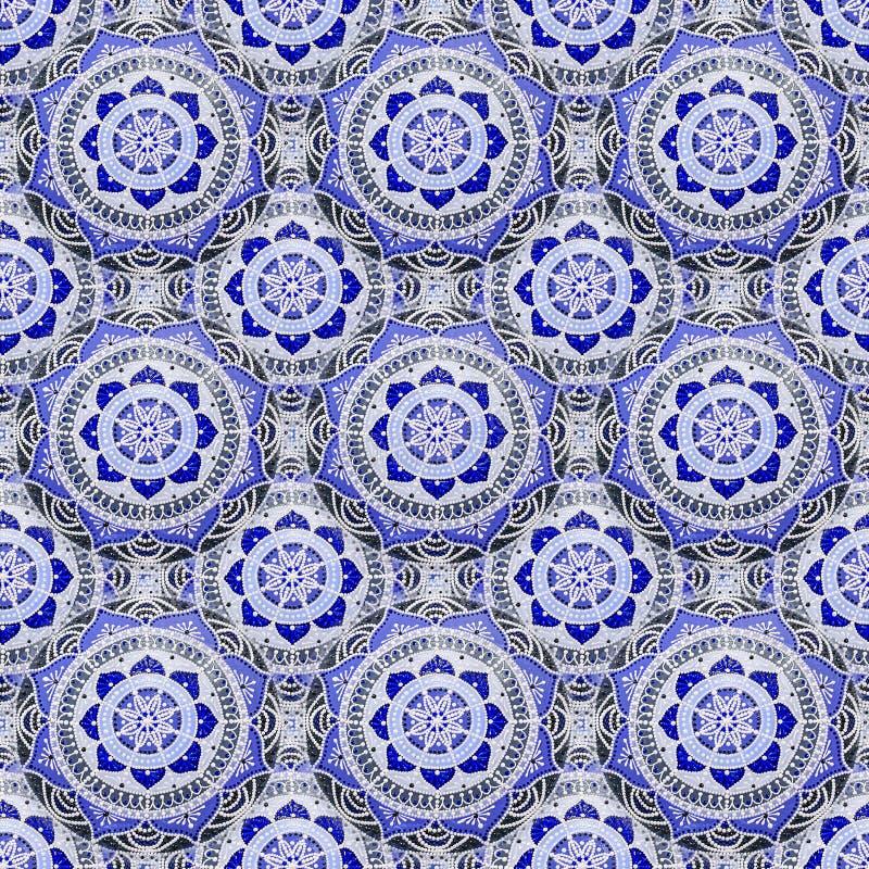 Nahtloser Hintergrund aus einer Reihe dekorativer Keramikschalen, handbemalt mit Acrylfarben mit Blumenmuster stockbilder