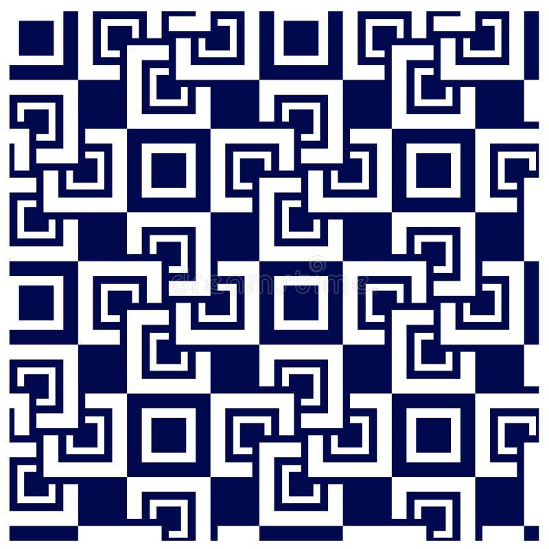 Nahtloser Hintergrund der abstrakten quadratischen Fliese vektor abbildung