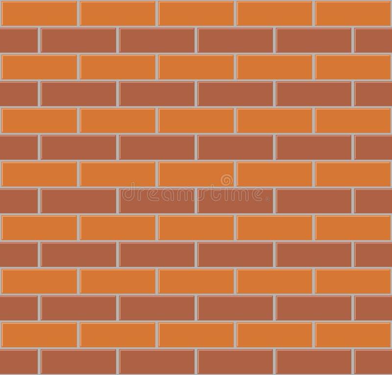 Nahtloser Hintergrund der Backsteinmauer stock abbildung