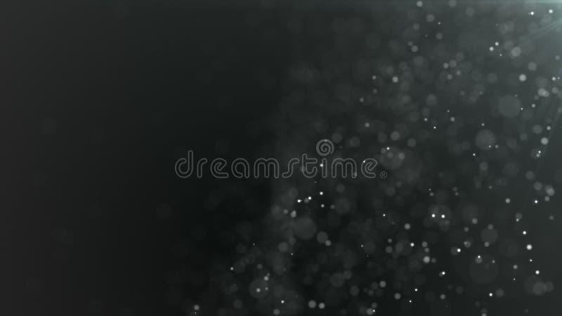 Nahtloser Hintergrund der glänzenden Partikel, dunkle Version stock video