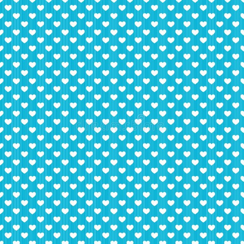 Nahtloser Hintergrund der Tupfenherz-Streifen vektor abbildung