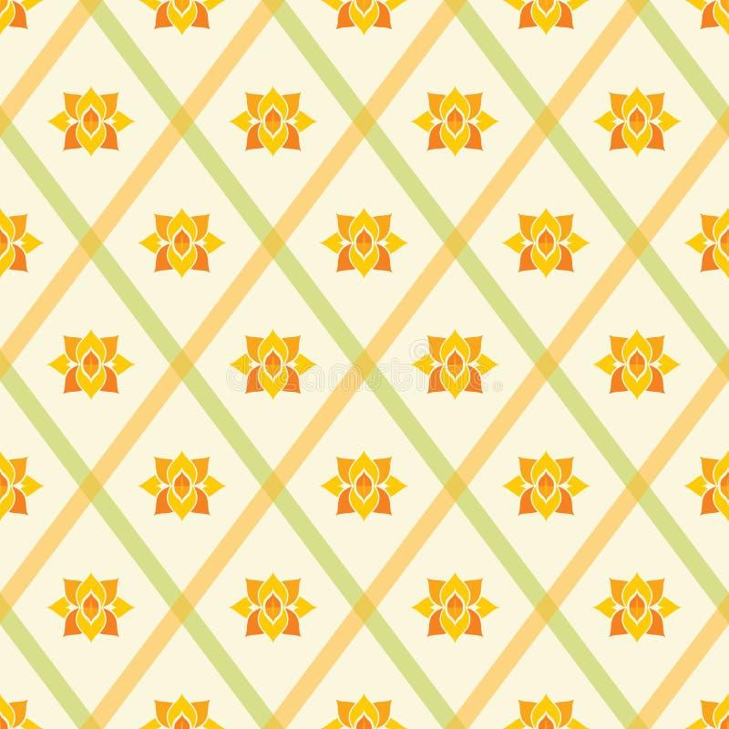 Nahtloser Hintergrund des abstrakten geometrischen Tapeten-Musters der Weinlese stock abbildung