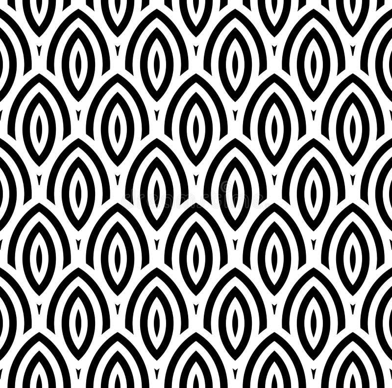 Nahtloser Hintergrund des abstrakten geometrischen Tapeten-Musters der Weinlese vektor abbildung
