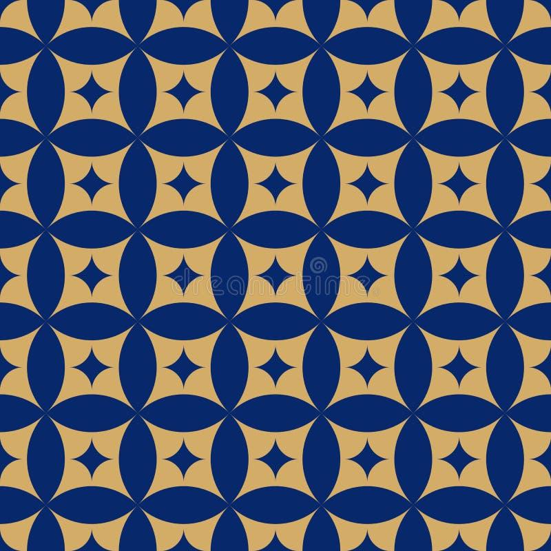 Nahtloser Hintergrund des abstrakten geometrischen Tapeten-Musters der Weinlese lizenzfreie abbildung