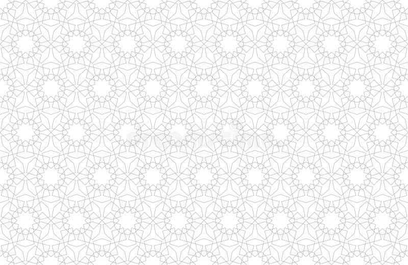Nahtloser Hintergrund des arabischen Musters in der islamischen Art Geometrischer moslemischer Verzierungshintergrund Auch im cor lizenzfreie abbildung