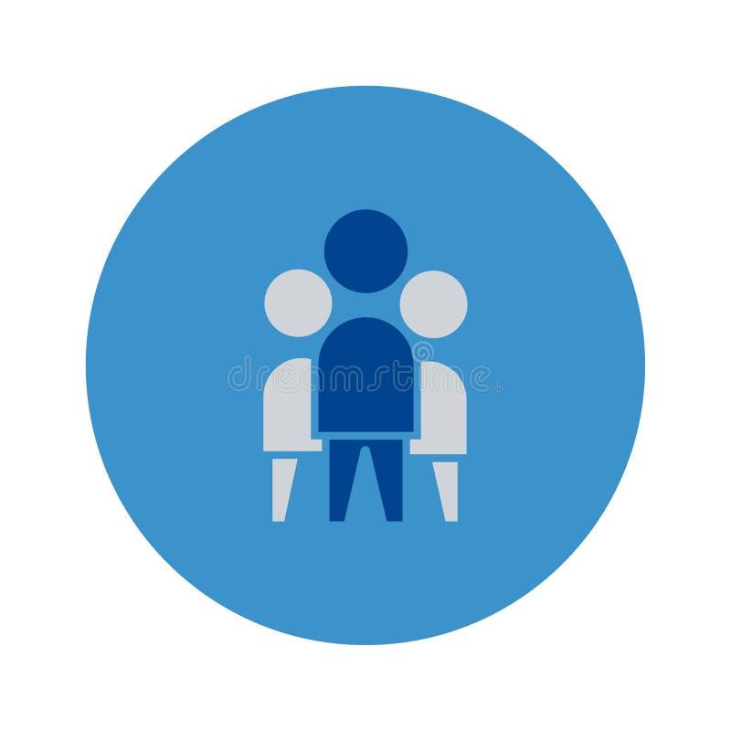 Nahtloser Hintergrund des Gesch?fts, Freundschaftkommunikation, Leute Vektorzeichensymbol voll editable stock abbildung