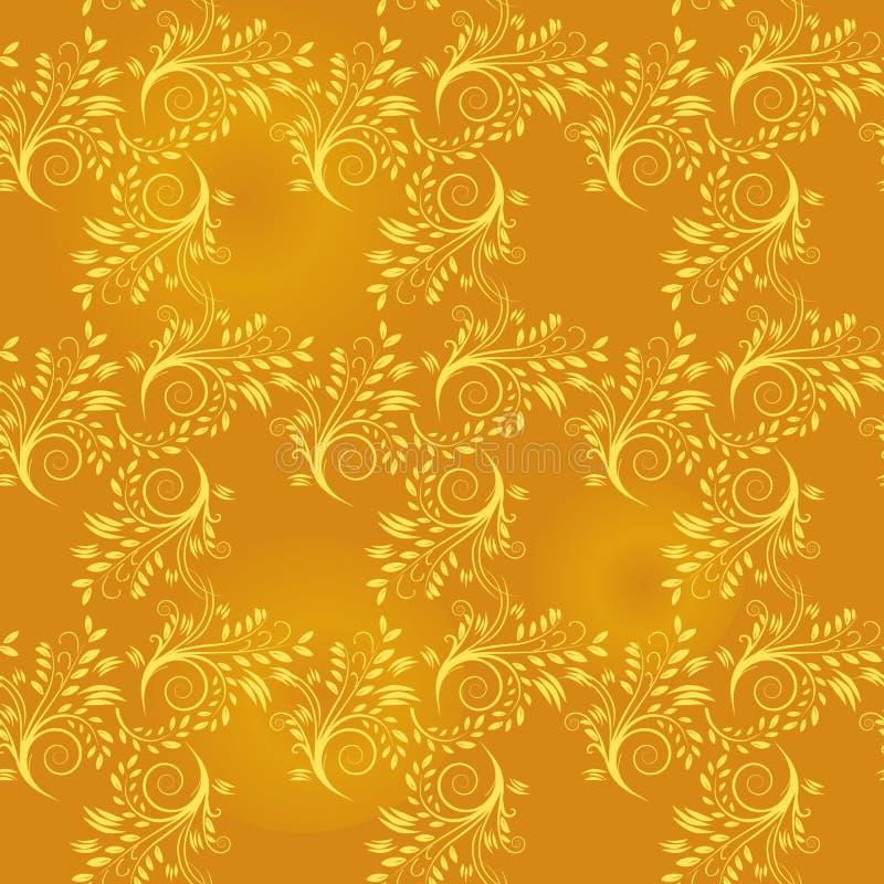 Nahtloser Hintergrund des Goldblattes lizenzfreie abbildung