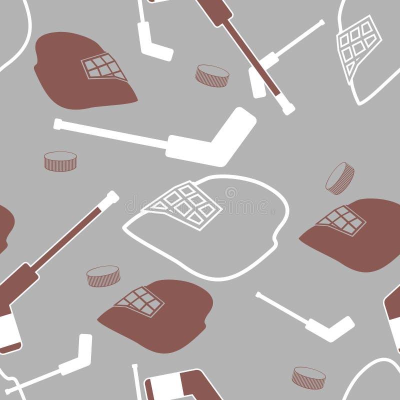 Nahtloser Hintergrund des Hockeytorhüters. lizenzfreie abbildung