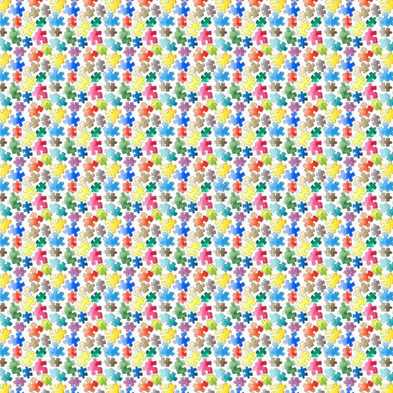 Nahtloser Hintergrund des Puzzlespielmusters Stücke des Puzzlespiels watercolor vektor abbildung