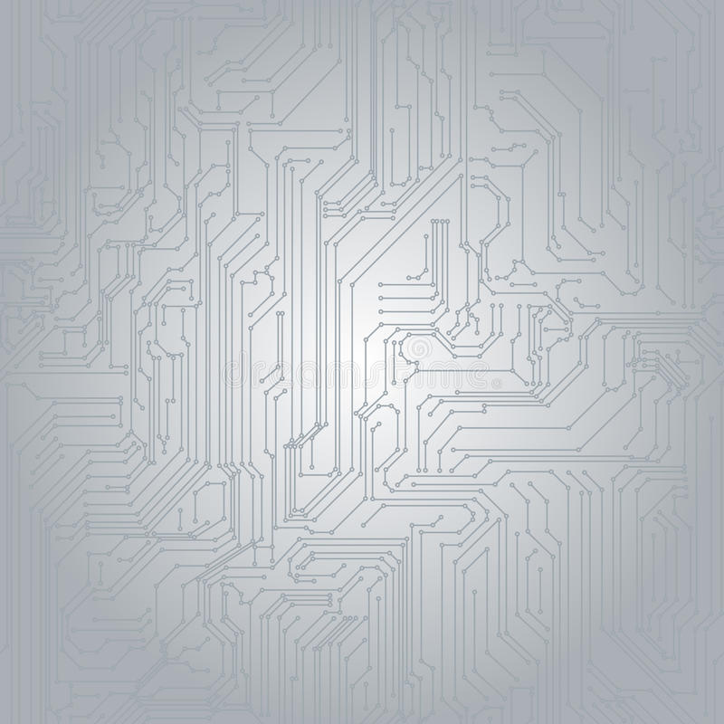 Nahtloser Hintergrund in Form von gedrucktem Kreisläuf lizenzfreie abbildung