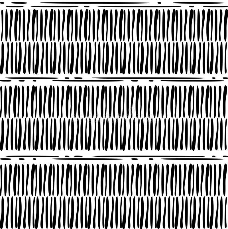 Nahtloser Hintergrund Geometrischer Aufbau Abstrakter Schwarzweiss-Hintergrund lizenzfreie abbildung