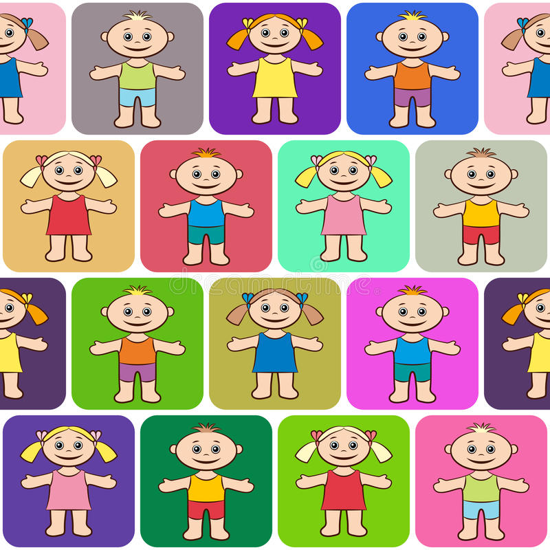 Nahtloser Hintergrund, Kinder stock abbildung