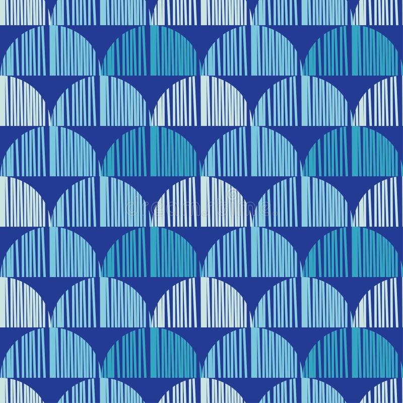 Nahtloser Hintergrund mit abstraktem geometrischem Muster Abstrakte digitale Störschubgraphik stock abbildung
