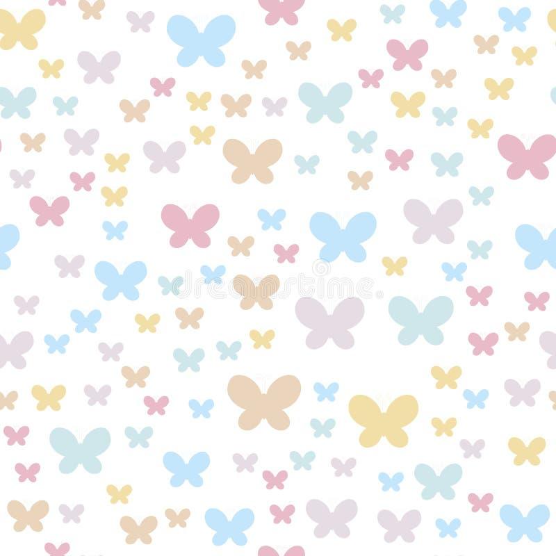 Nahtloser Hintergrund mit Basisrecheneinheiten Empfindliche Farben sind für Kinderpartys und Sachen gut angepasst vektor abbildung