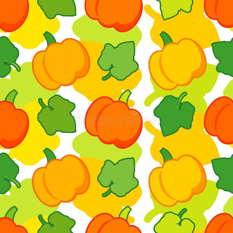 Nahtloser Hintergrund mit Kürbisen thanksgiving Erntefest lizenzfreie abbildung